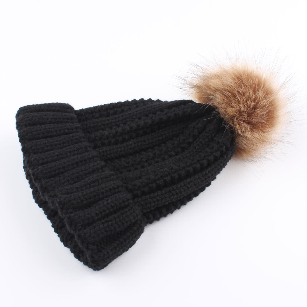 e5fca06ad4cdc Women Winter Hat Knit Beanie Skullies Pom Pom Causal Warm Outdoor Thick  Female Cap