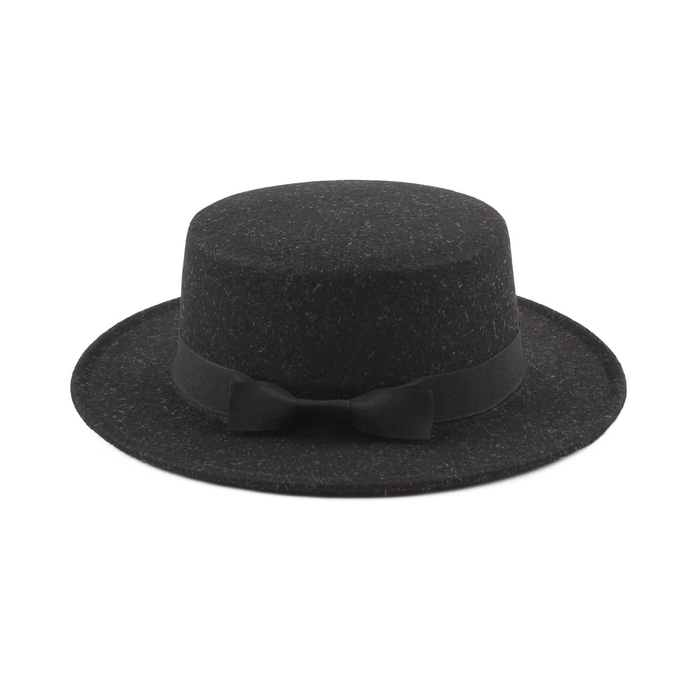 263efd029f8bf Vintage Women Men Wide Brim Ribbon Warm Wool Blend Felt Hat Unisex Trilby  Fedora Cap Cowboy Hat Gorras
