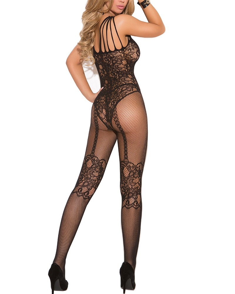 538bf4ec4 Sexy Women Bodystocking Lingerie Fishnet One Piece Jumpsuits Sheer Lace  Mesh Bodycon Bodysuits Babydoll Nightwear