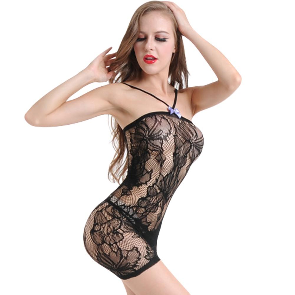034860af4b5 Sexy Women Lingerie Babydoll Chemise Dress Lace Hollow Out Erotic Underwear  Nightwear Sleepwear Black black Online Shopping