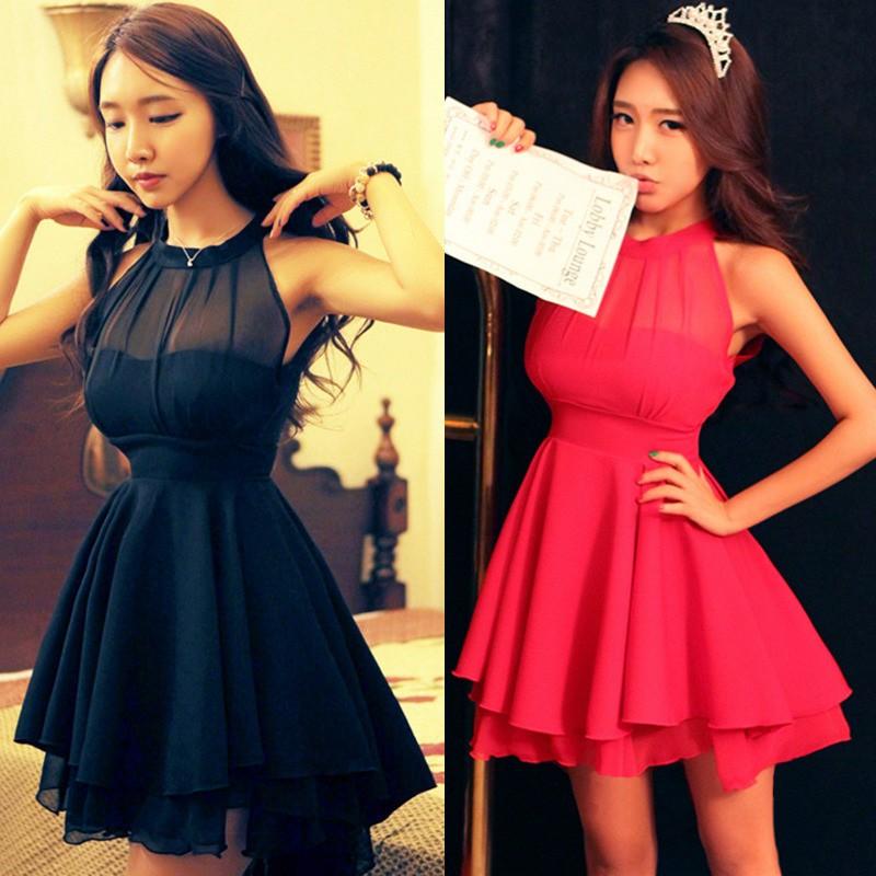 Red Short Chiffon Dresses