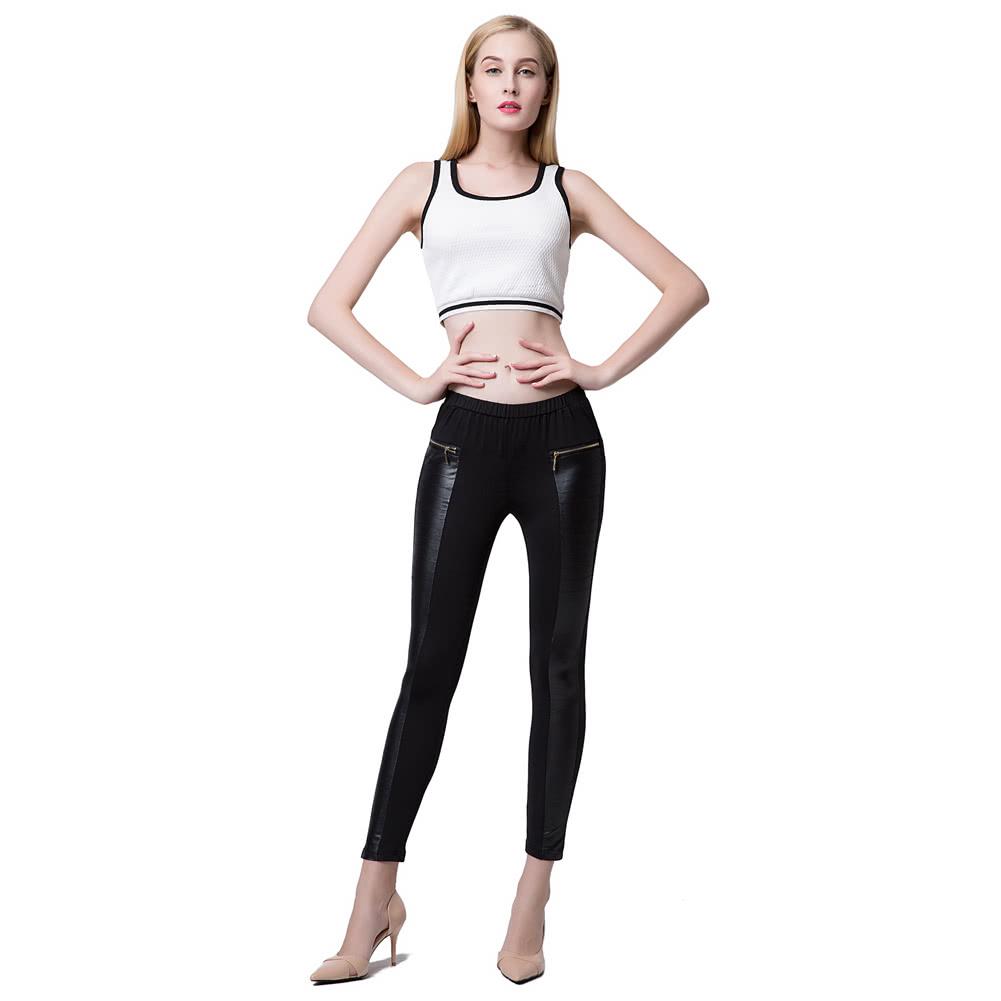 Pants skinny black stretch girls, chubby baby toy