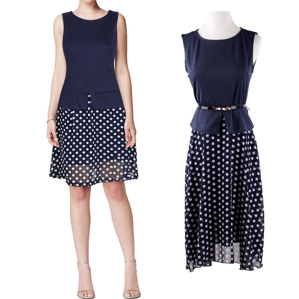 Kleid dunkelblau chiffon