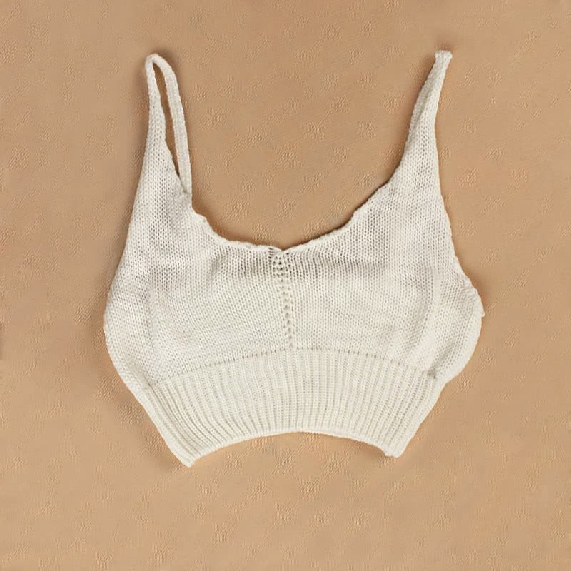 femmes sexy crochet tricot crop top v profond cou spaghetti sangles maillots de bain bikini. Black Bedroom Furniture Sets. Home Design Ideas