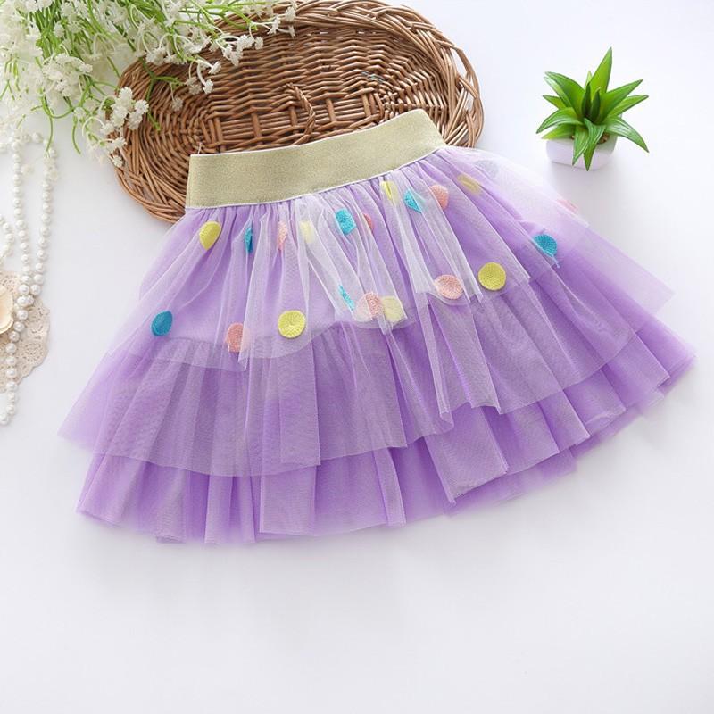 Moda niñas niveles tul falda cintura elástico arco decorativo ...