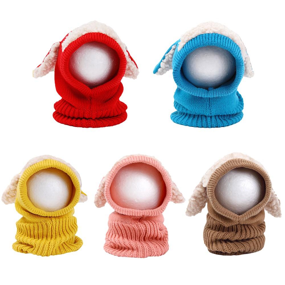 Niños de invierno lindo chicas chicos Kintted sombrero oído cachorro ...