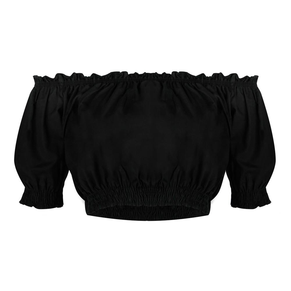 652612674ac7d7 Smocked Off the Shoulder Top Source · Women Off the Shoulder Cropped Top  Short Sleeves Frill Slash Neck