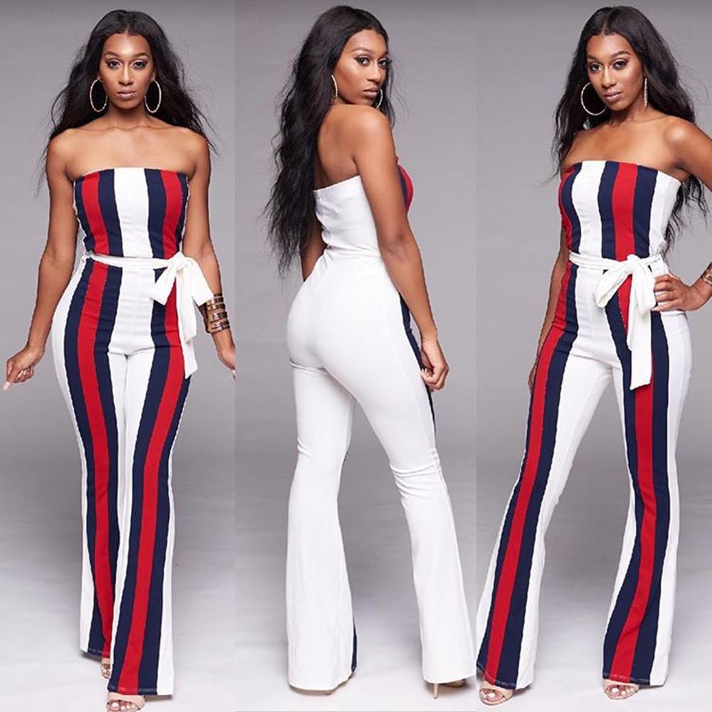2ddd334381f9 Yükle (1024x1024) · Sexy Women Jumpsuits Slash Neck Off the Shoulder Stripe  Contrast Color Playsuit Black White white