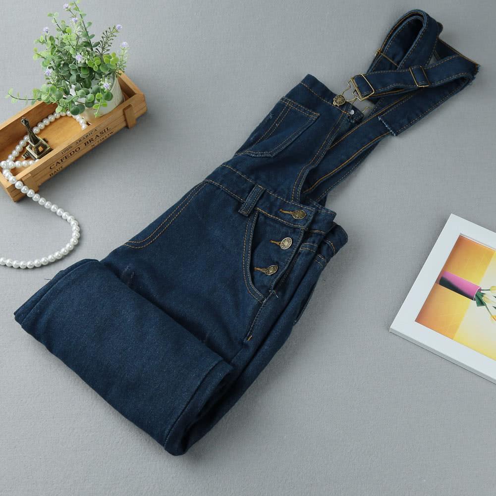 db5efba29f Moda mulheres Denim Rompers cinta bolsos desgastado rasgado macacão ...