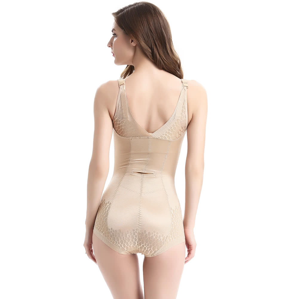 5ca0ff21bab91 New Women Bodysuits Tummy Control Underbust Shapewear Lace Mesh Seamless  Waist Training Crotch Buckle Corsets Black Beige l beige Online Shopping