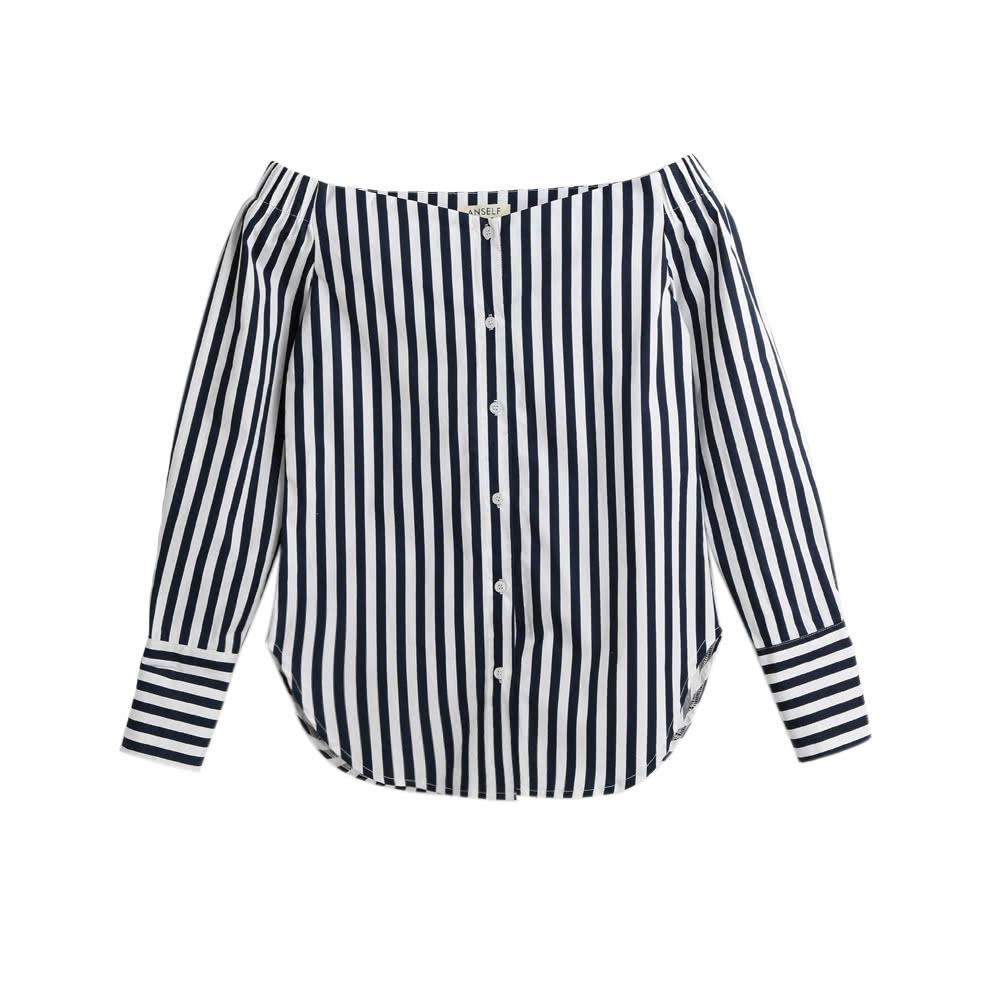da99cba01ad Ladies Black And White Striped Long Sleeve Shirt - Gomes Weine AG