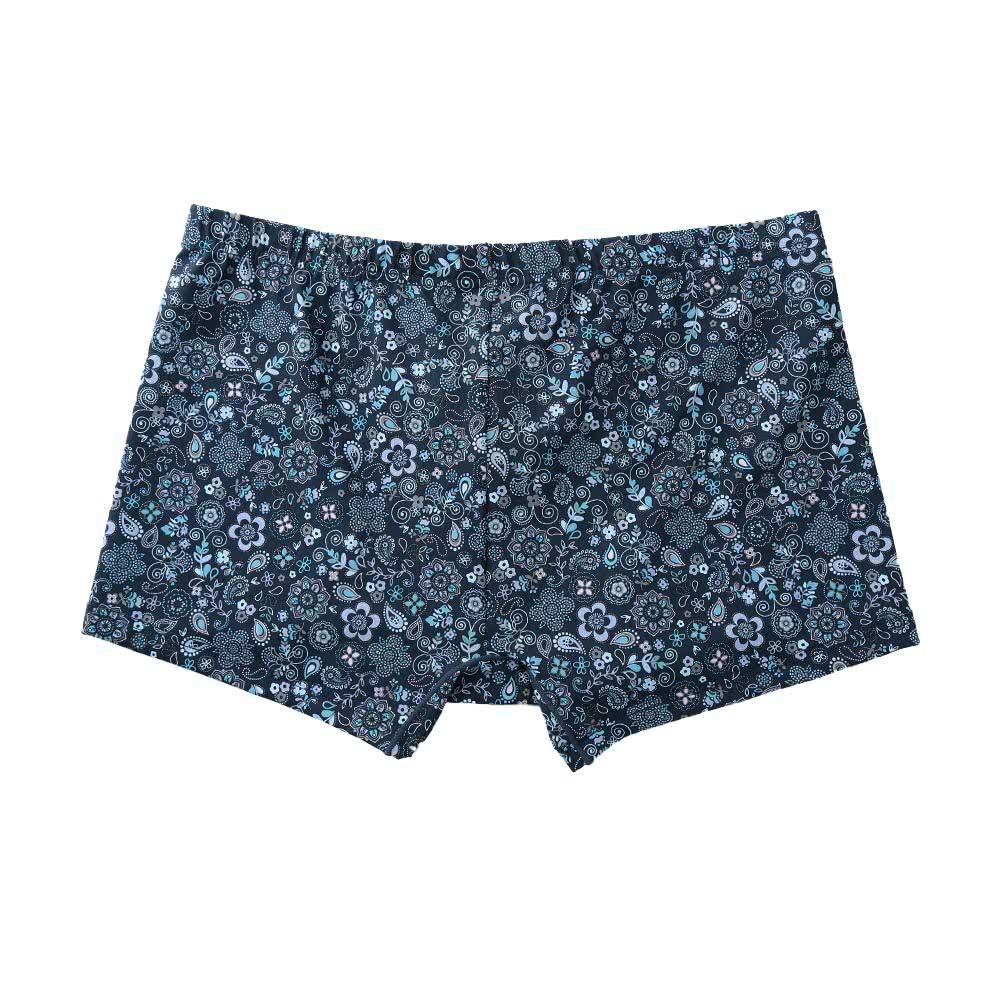 9a911b81c5 Moda homens cuecas Boxer Shorts Flora Print cintura elástica respirável  cueca cuecas azul roxo azul xxl - Tomtop.com