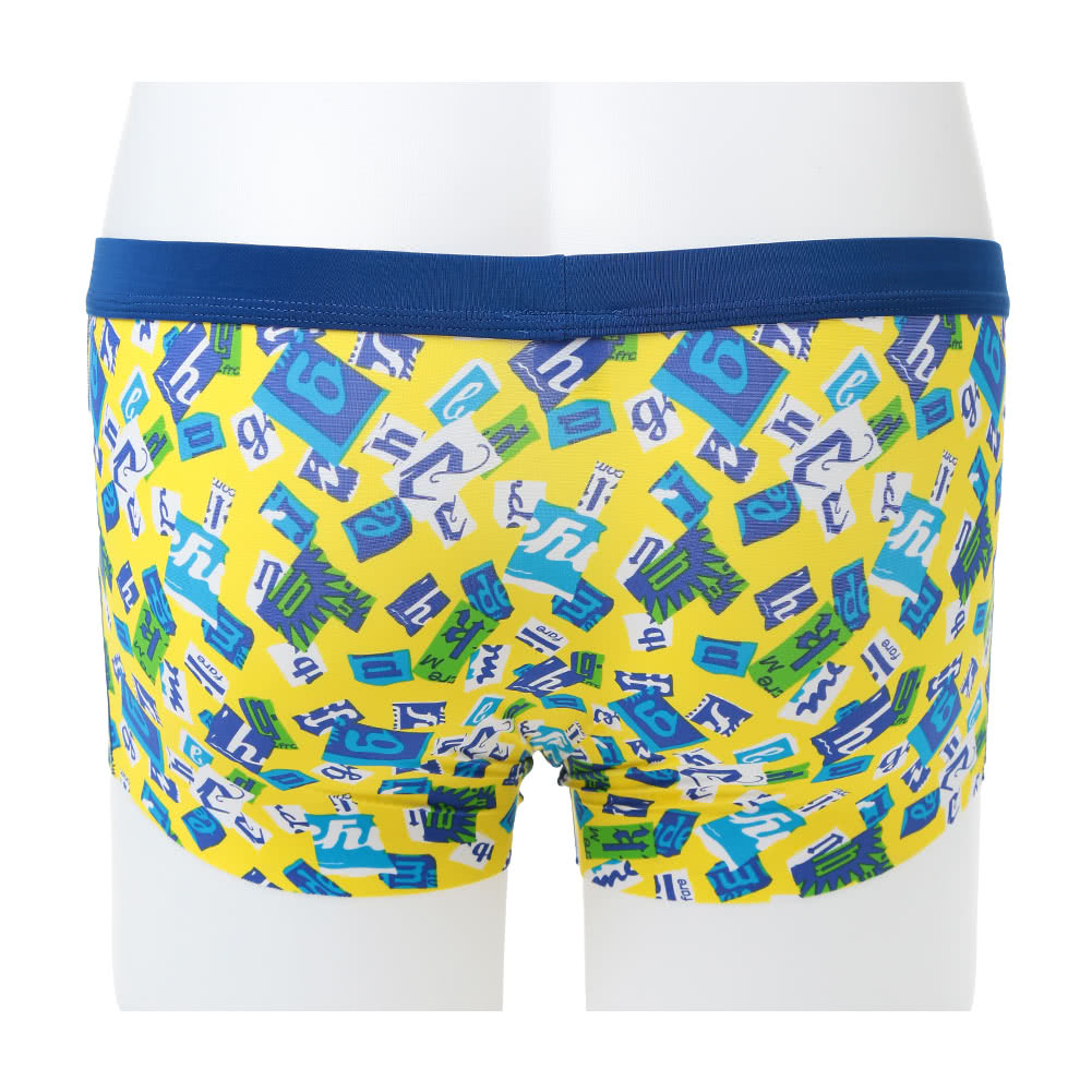 ef84d27981 Fashion Men Boxer Shorts Print Elastic Waist U Convex Seamless Trunks  Underwear Underpants Yellow Black Blue
