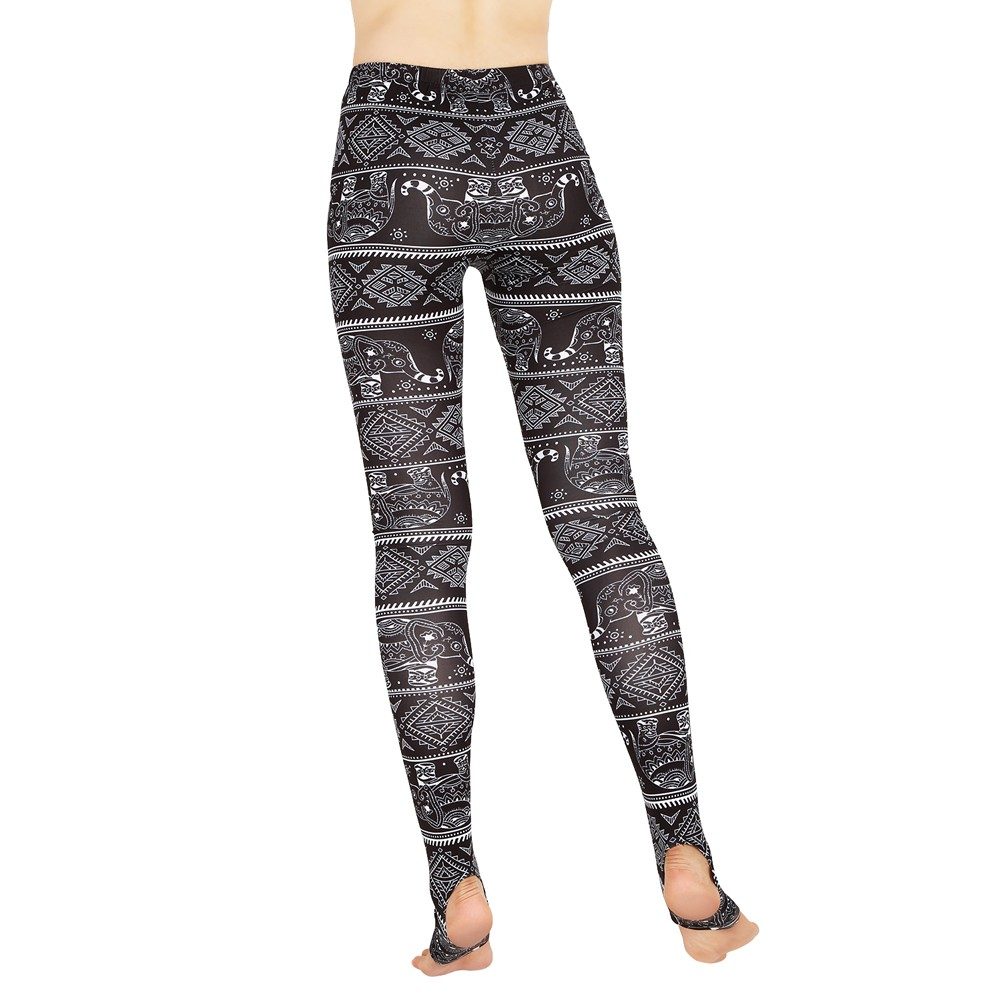 frauen leggings weihnachtsdruck d nne hosen leger strumpfhosen stretch schlank hohe taille. Black Bedroom Furniture Sets. Home Design Ideas