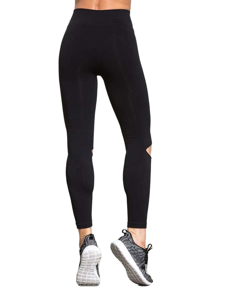Pantalón de yoga de mujer sexy Polainas deportivas Pantalón de  entrenamiento de diseño de recluta Corriendo Pantimedias de fitness delgado  flaco Negro l ... 4cf0dde67a86