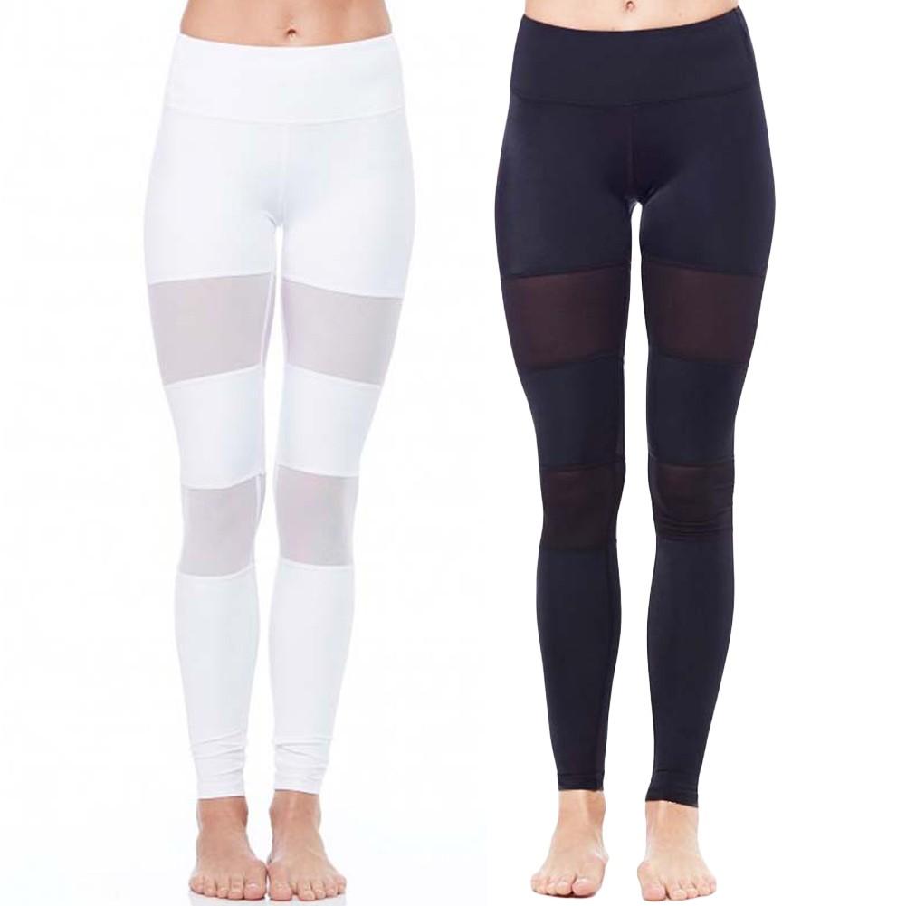 Sexy Women Mesh Splice Sports Leggings Yoga Pants Workout