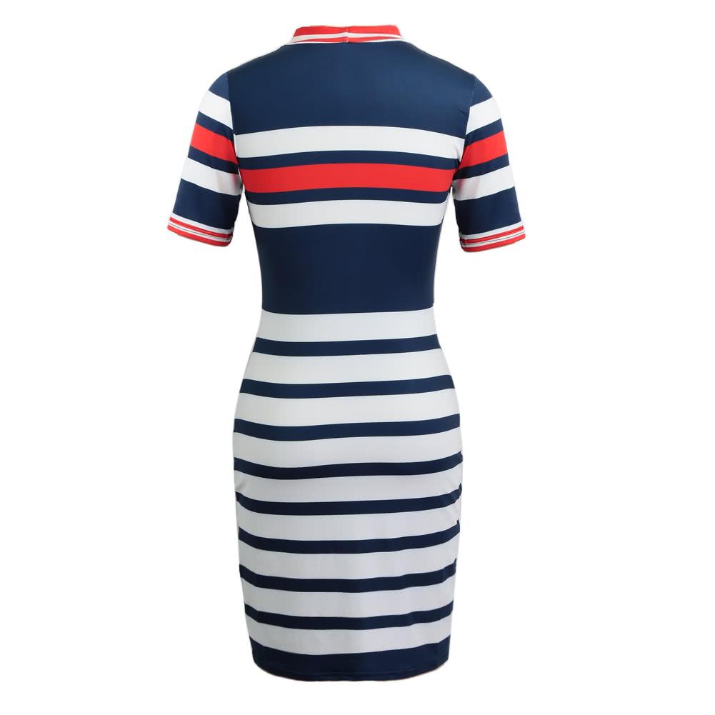 93822bcaf Verano de las mujeres mini vestido Vestido de tirantes a rayas de impresión  de manga corta camiseta atractiva del vestido ocasional de Red xl rojo - ...