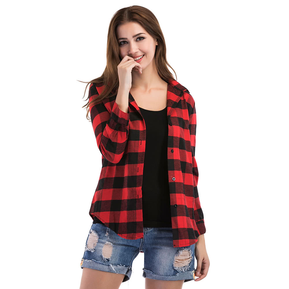 acee25dc1b6 Red Tartan Womens Shirts - Cotswold Hire