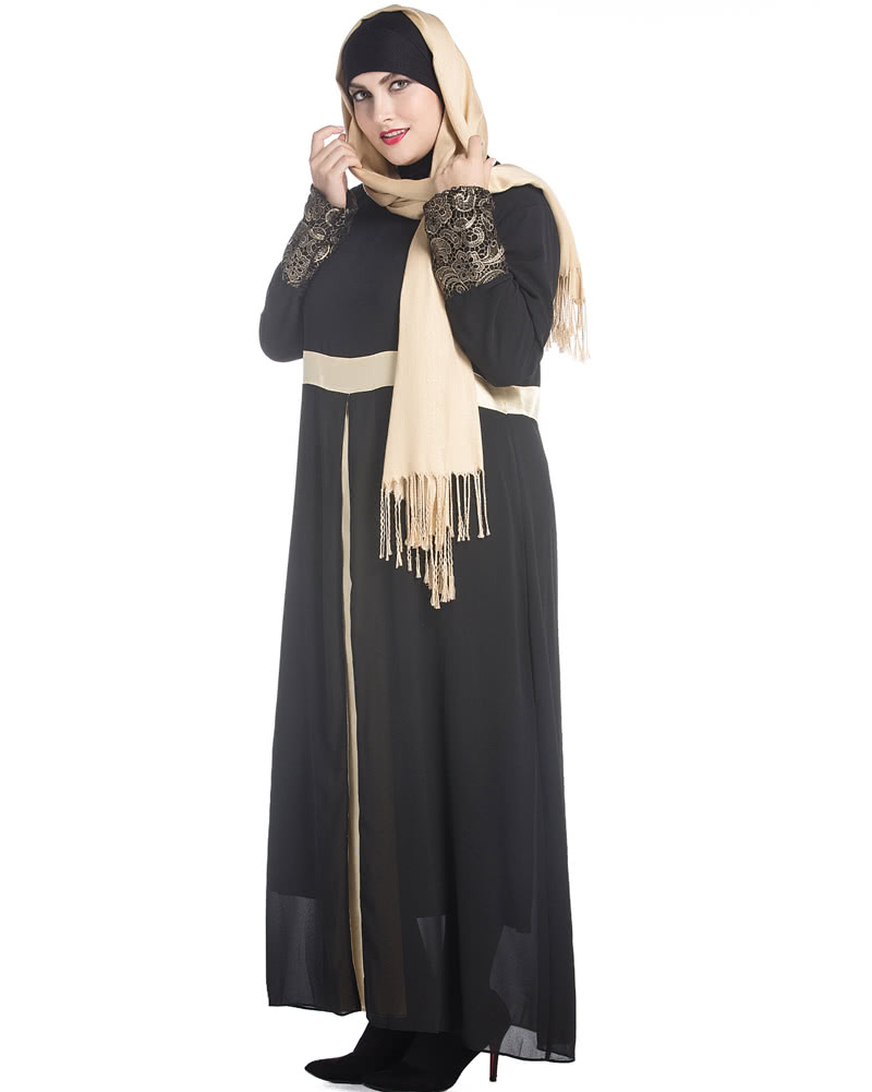 f01341d0f3dc Muslim Women Long Sleeve Dress Maxi Abaya Islamic Casual Robe Kaftan  Turkish Muslim Dress Grey/Green/Black black 3xl Online Shopping | Tomtop