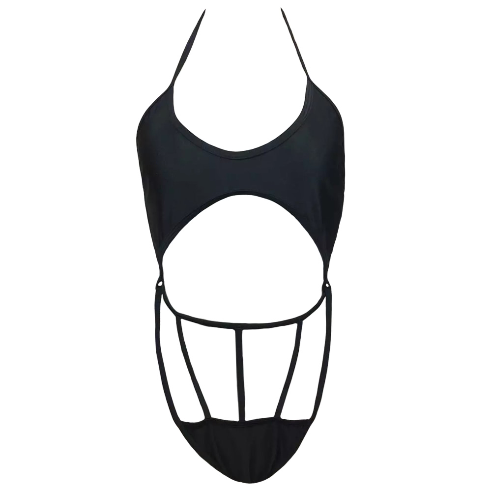 419d2baf4ea36 ... Halter Cut Out Strap Bathing Suit Beachwear Backless Monokini black  Yükle (1001x1001) · Out From Under Ari Strappy Front Triangle Bra Bra4Her  UO39909080 ...