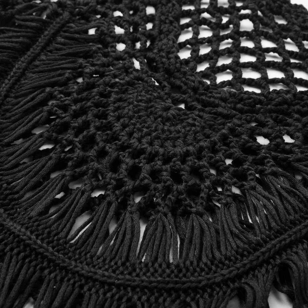Las Mujeres Atractivas Crochet Bikini Cubren La Franja De La Borla  ~ Cortinas De Ganchillo Para Baño