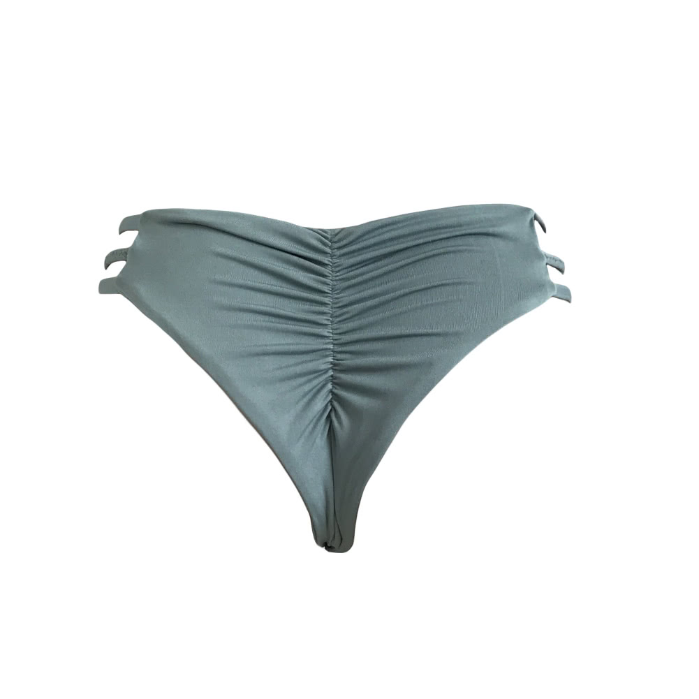 e19c0d83f2c4 Sexy Women V-Shape Swimwear Bikini Bottom Swim Brief Brazilian Panties  Ruched Back Beach Thong Underwear darkgreen l Online Shopping   Tomtop