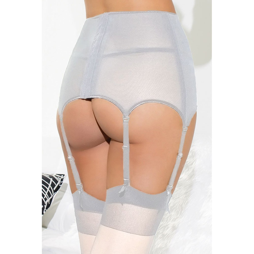 28366909401 Women Lace Garter Belt High Waist Hollow Out Mesh Stocking Suspender  Elastic G-string Plus Size Lingerie white m Online Shopping