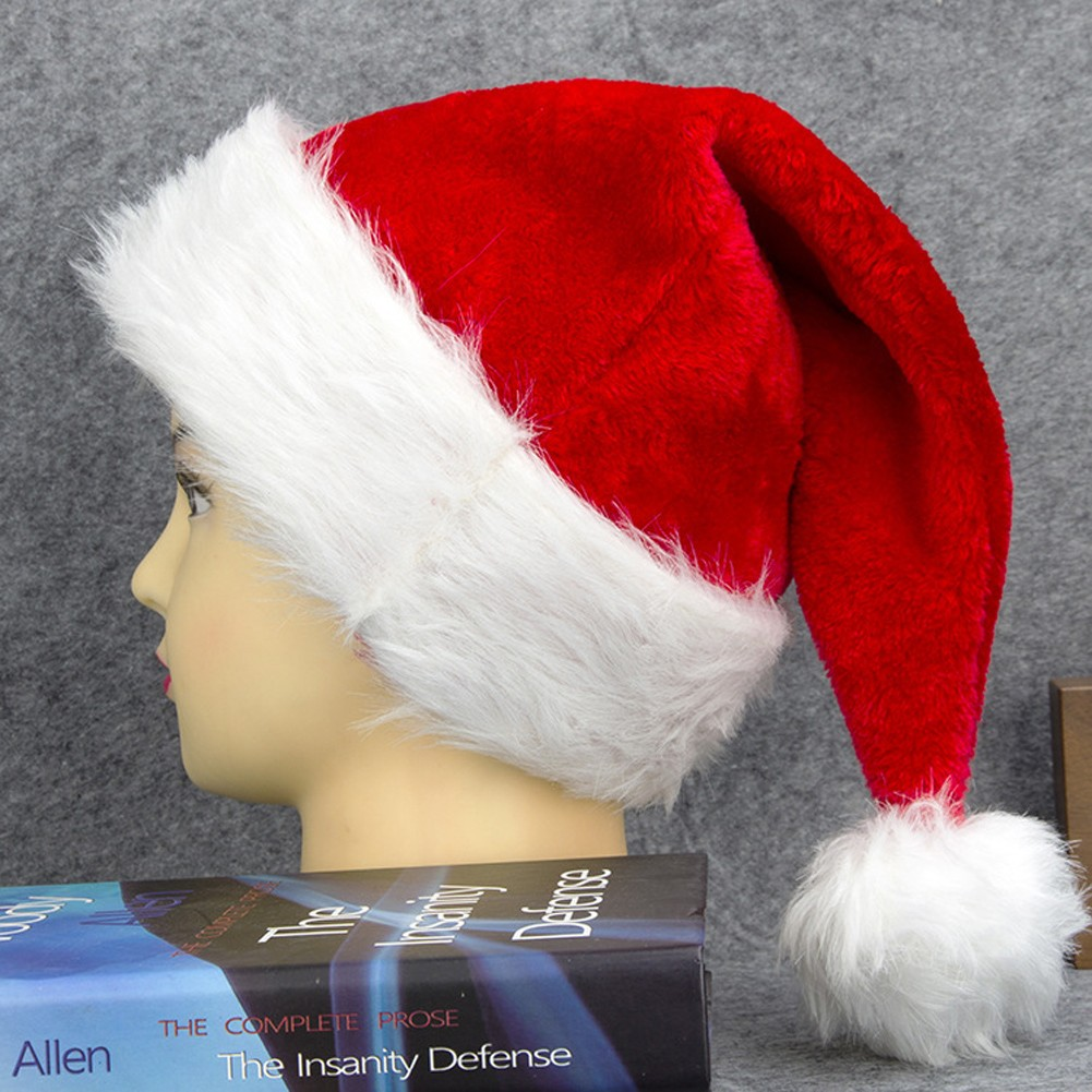 f08a2c255d93b Women Men Christmas Santa Hat Plush Xmas Cap Santa Claus Party Festival  Decoration Red red Online Shopping