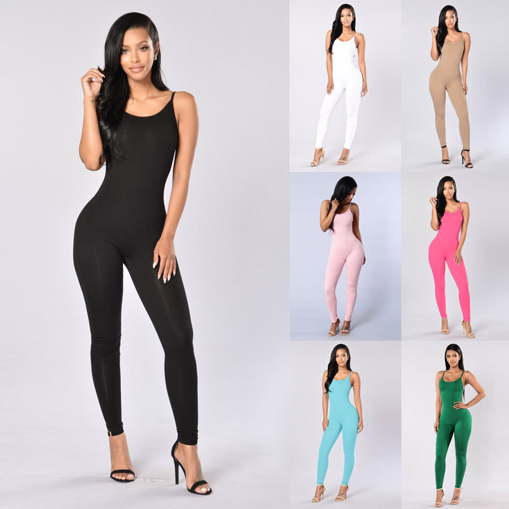 77421cf1a50d New Sexy Women Jumpsuit Rompers Spaghetti Strap Backless Bodycon Nightclub  Party Playsuit Bodysuit Overalls