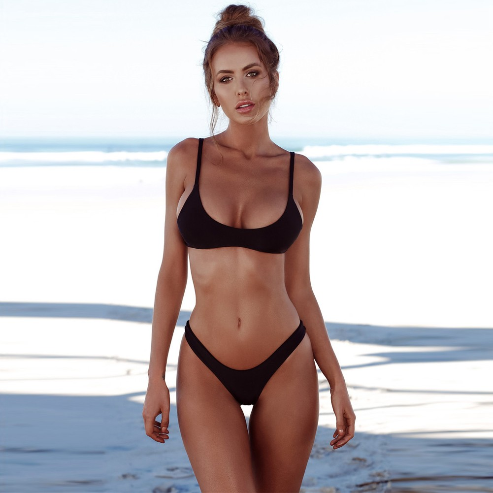 46b158af8b1 New Sexy Women Bikini Set Swimsuit Push Up Padded Bra High Cut Bottoms Swimwear  Bathing Suits