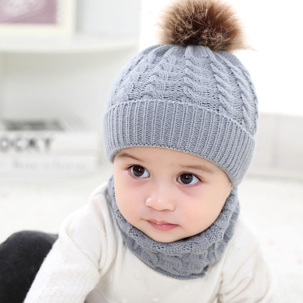 2pcs Toddler Kids Hats Baby Circle Loop Scarf Neck Warmer grey Online  Shopping  014332026d2c