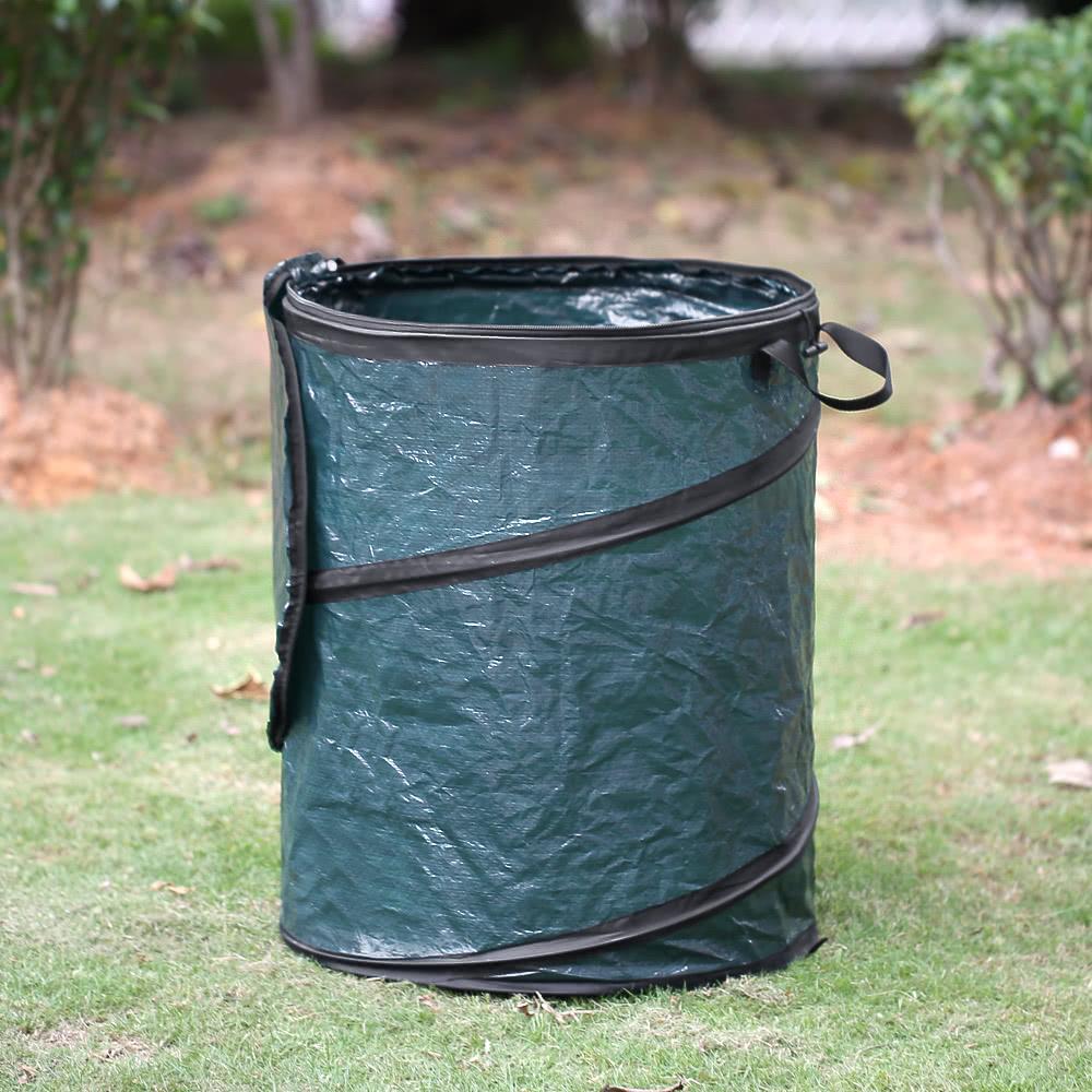 Homgeek Portable Collapsible Pop Up Leaf Trash Can Garbage