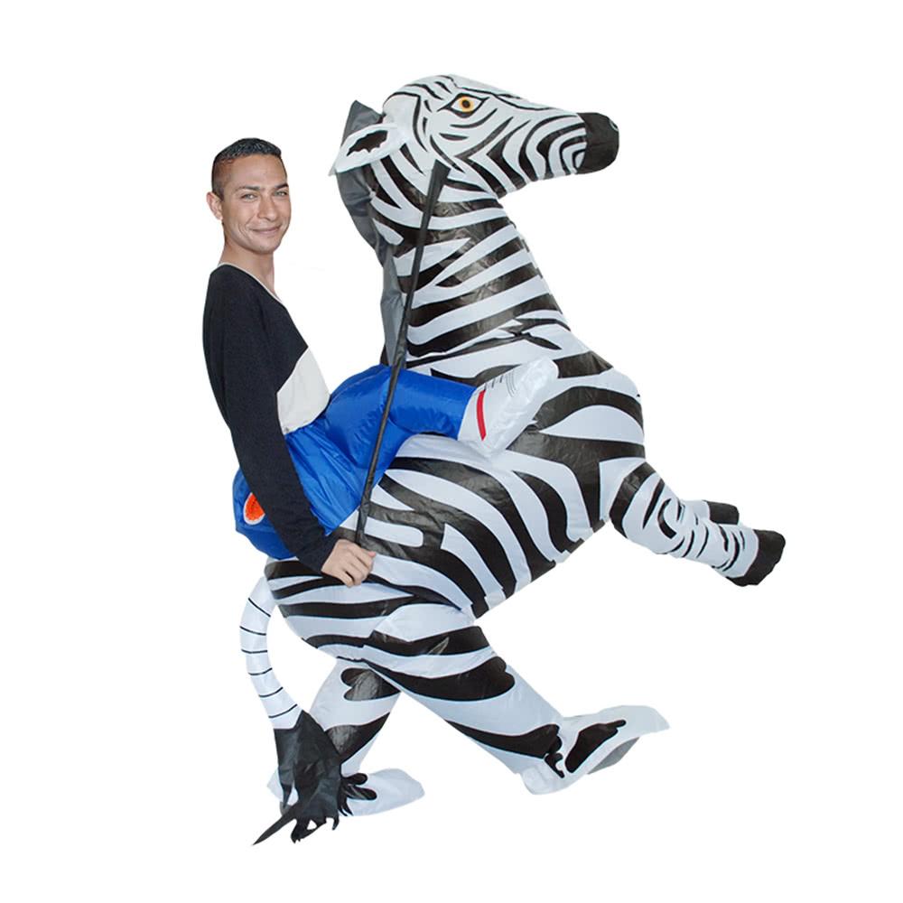 reizendes erwachsenes aufblasbares reiter kost m nettes zebra cosplay prop aufblasbares kost m. Black Bedroom Furniture Sets. Home Design Ideas
