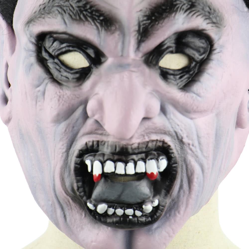 Latex Scary Vampire Mask Full Face Horror Toothy Zombie