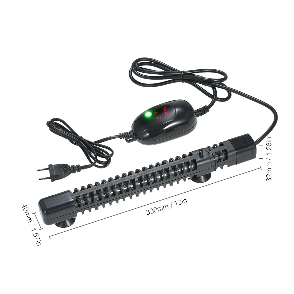 300W Multi-functional 2 in 1 Submersible Aquarium Heater Thermostat Heating  Fish Tank with Protective Housing and Digital Temperature Controller