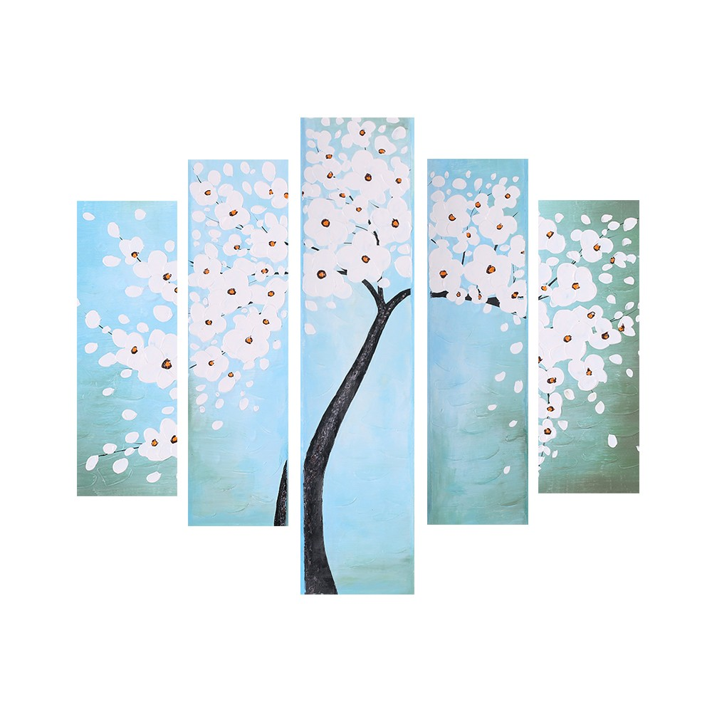 5 panel unframed wasserdicht 3d handgemalte lgem lde for Wand kunst wohnzimmer