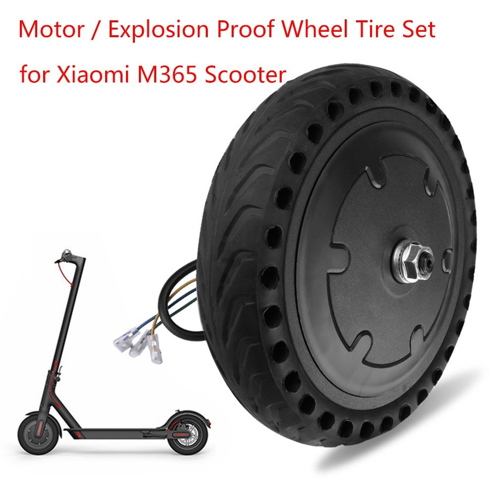 Motor and Explosion Proof Honeycomb Structure Anti-Skid Wheel Tire Set for  Xiaomi M365 Electric Scooter Sales Online #1 - Tomtop