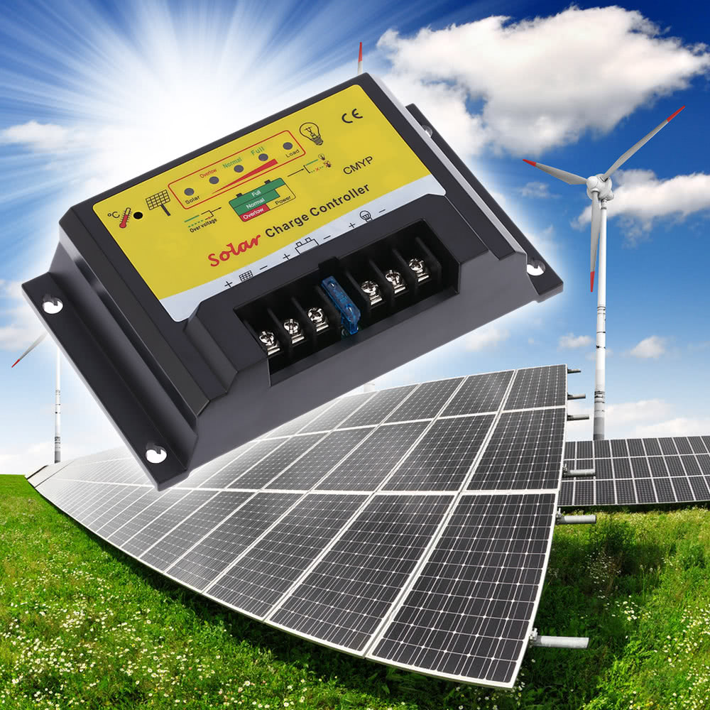 Anself 10a 12 24v Automatic Intelligent Solar Charge Controller Pwm 20a 12v Panel Regulator Safe Protection Charging Battery Temperature Compensation