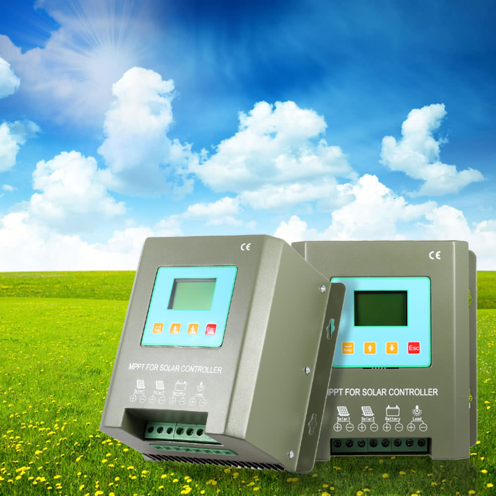 Efficient Mppt Tracer Solar Charge Controller Lcd Display