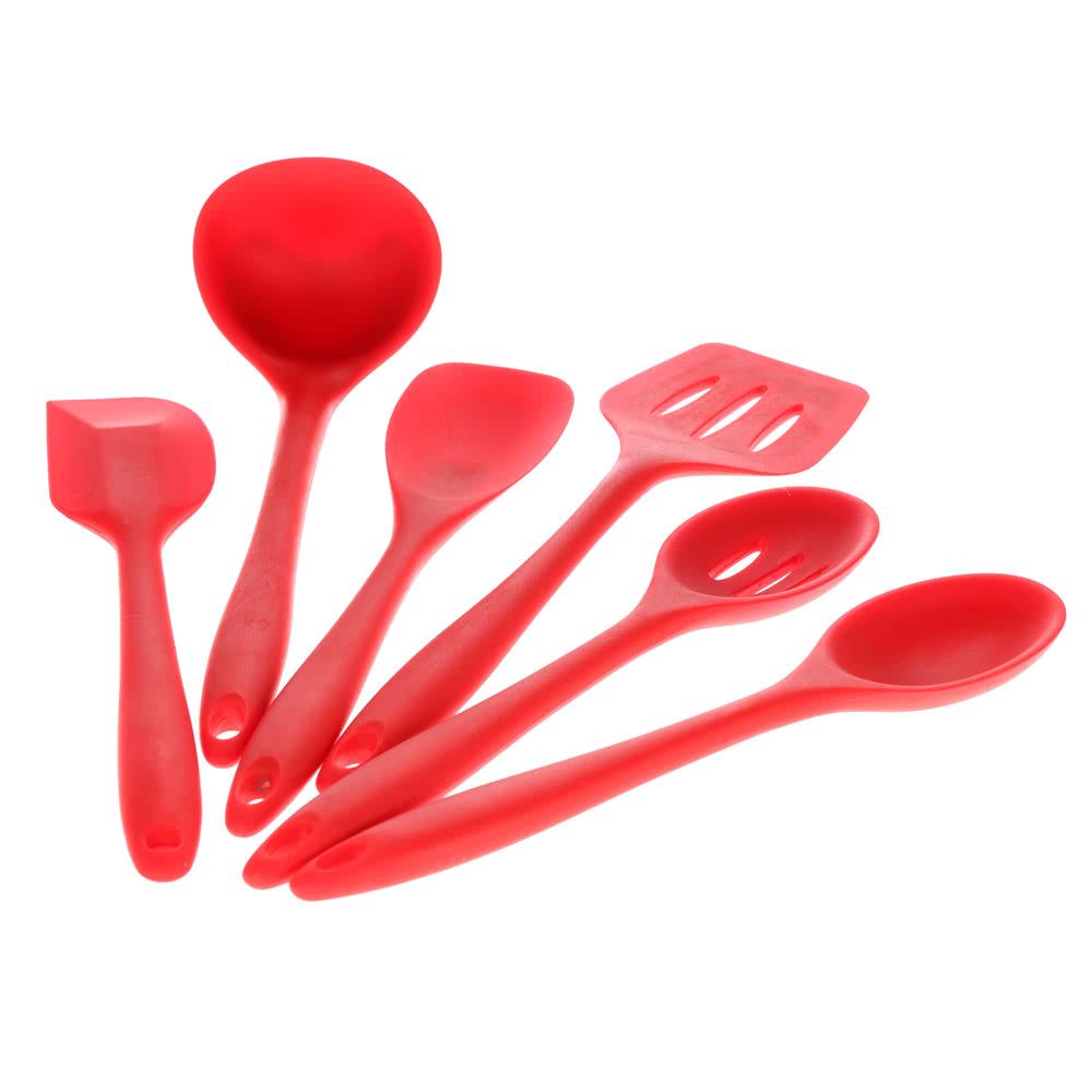 Haute qualit 6pcs silicone ustensiles de cuisine for Liquidation set de cuisine