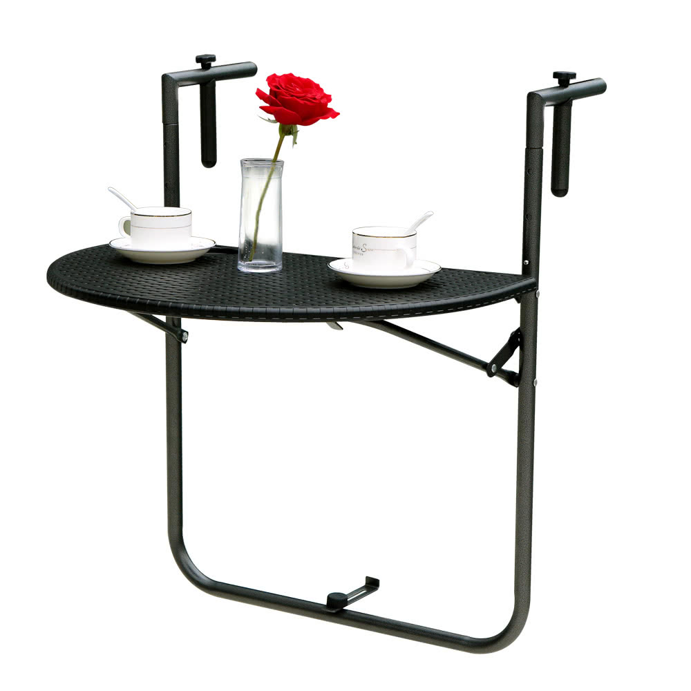 Регулируемый складной стол палубе балкон висит патио перила .