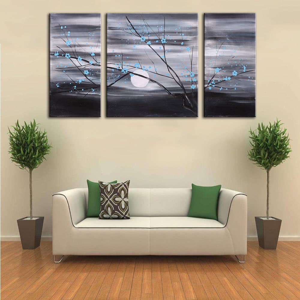 3pcs unframed handgemaltes modernes abstraktes lgem lde for Wand kunst wohnzimmer