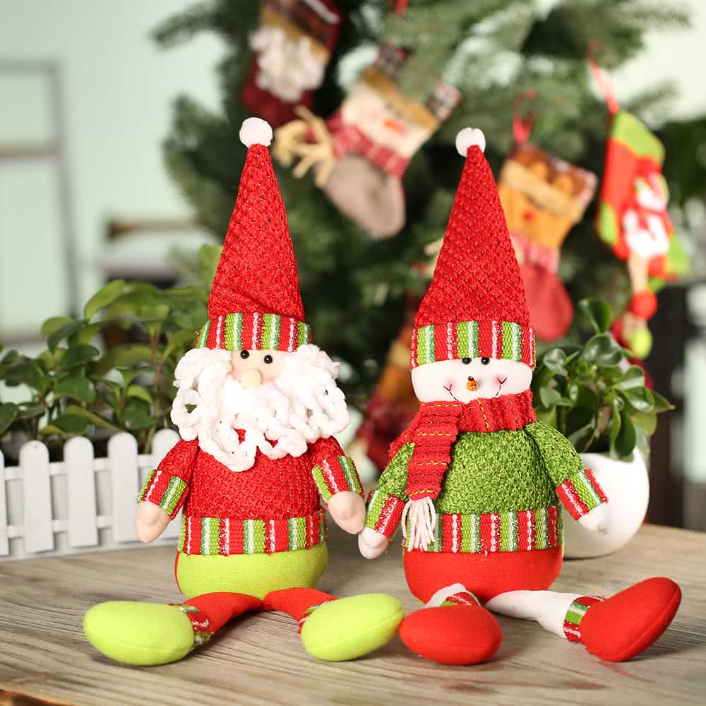 Festnight hot sale xmas lovely decors doll christmas santa for Christmas table decorations sale