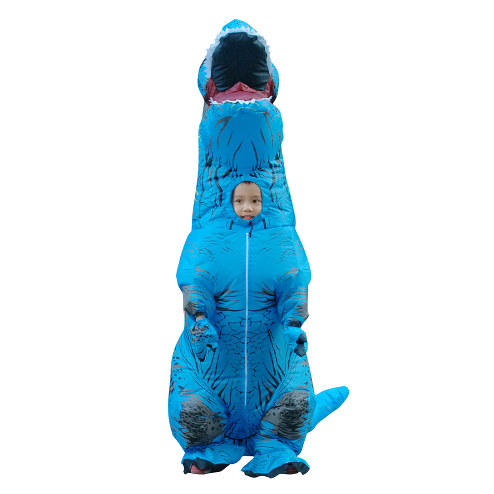 FUNNY ADULT INFLATABLE DINOSAUR TREX COSTUME SUIT AIR FAN OPERATED BLOW UP UK