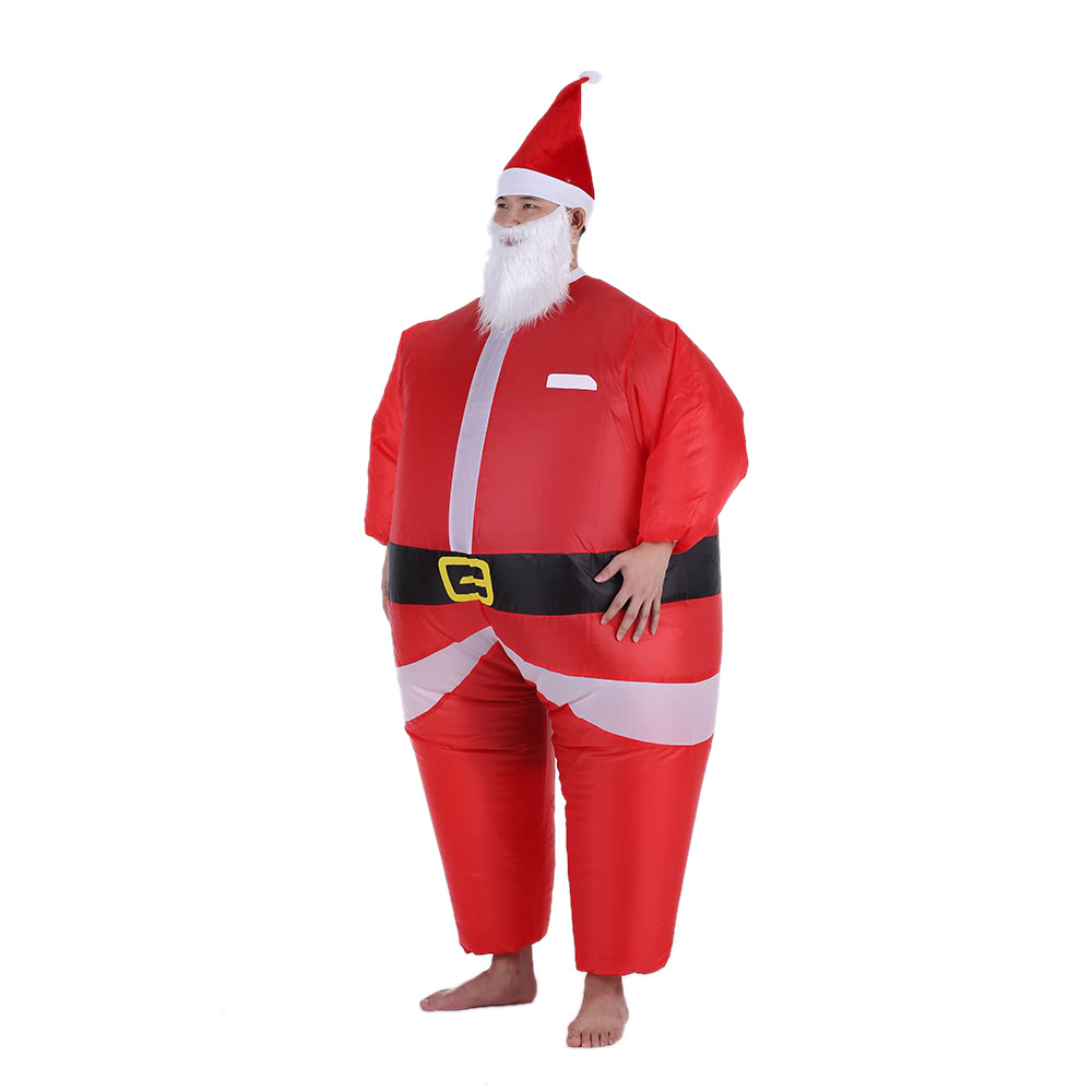 Funny christmas inflatable santa claus costume jumpsuit