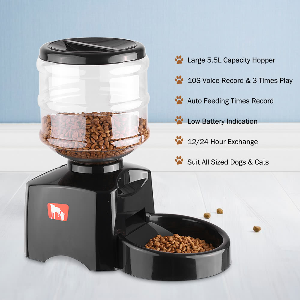 by timed pet all lusmo cages dispenser dog automatic food feeder