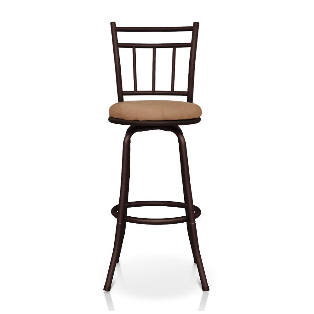 ikayaa antique swivel barhocker mit r ckenlehne metallrahmen k che esszimmer stuhl schaum. Black Bedroom Furniture Sets. Home Design Ideas