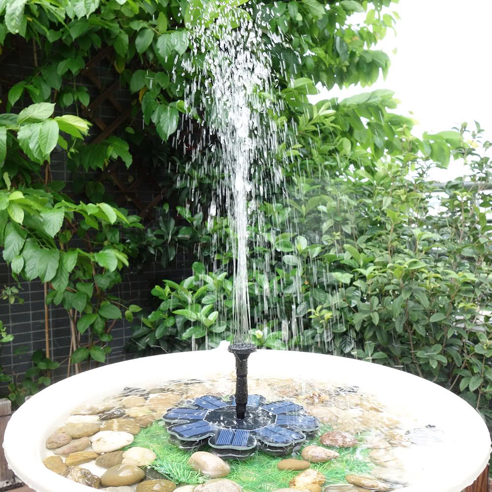Anself Solar Pump Floating Water Fountain For Bird Bath Pond Garden  Decoration 8V 1.6W Solar Panel Water Pump Kit New Version Sales Online #1    Tomtop