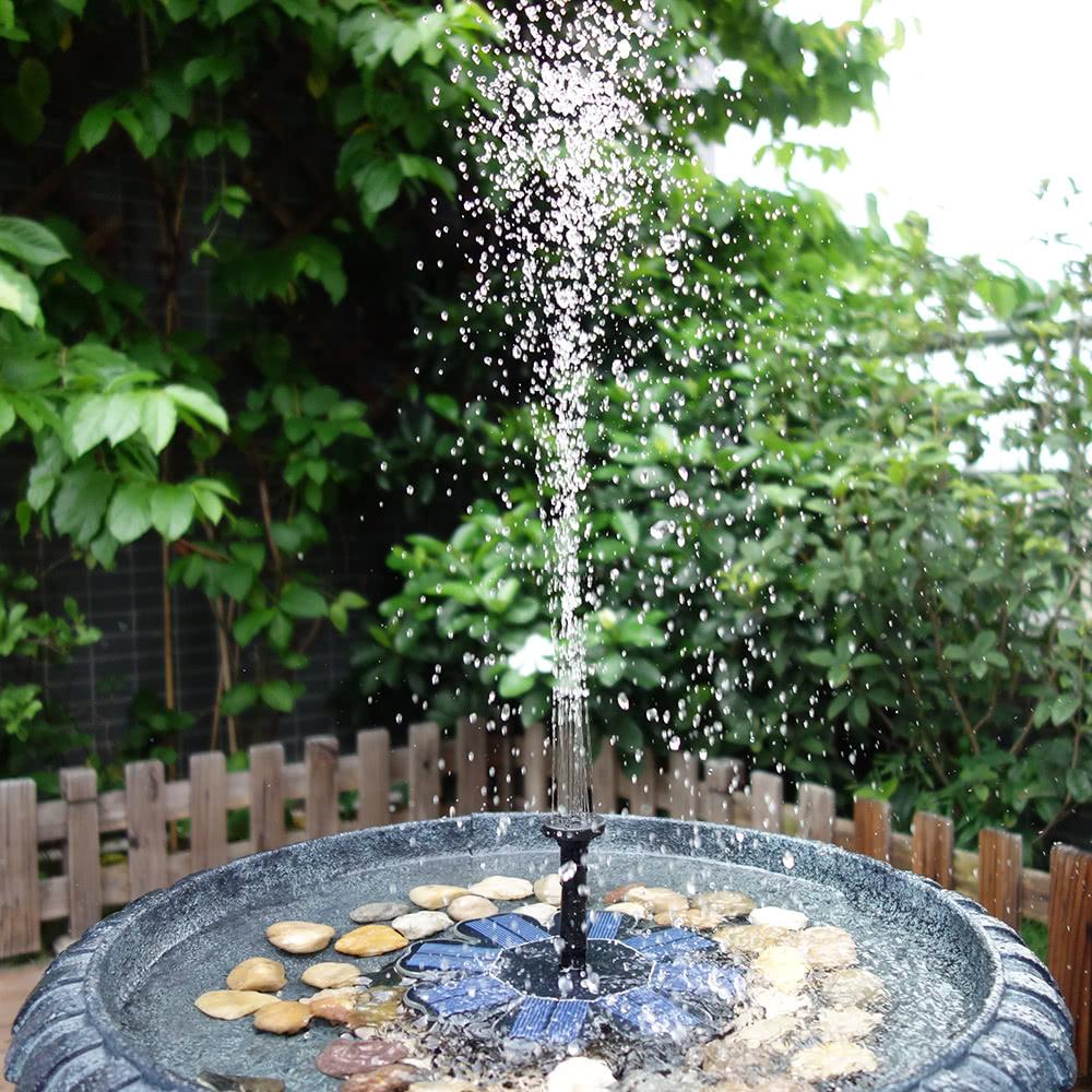 Fontaine Solaire De Jardin destiné anself pompe solaire fontaine d'eau flottante pour baignoire d