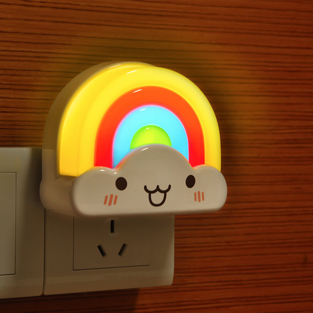 Mini Rainbow Baby Room Infrared LED Wall Night Light ...